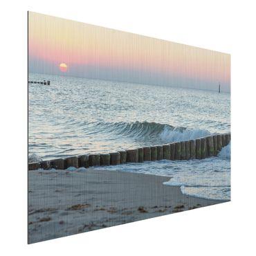 Aluminium Print gebürstet - Sonnenuntergang am Meer - Querformat 2:3