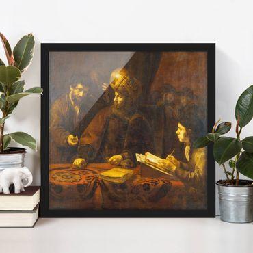 Bild mit Rahmen - Rembrandt van Rijn - Gleichnis von Arbeitern - Quadrat 1:1