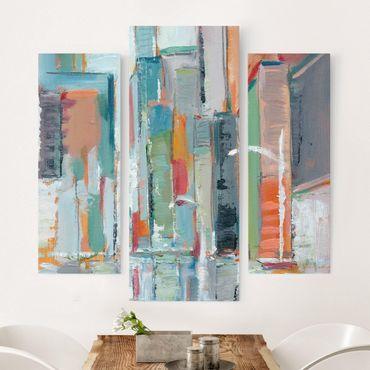 Leinwandbild 3-teilig - Zeitgenössische Innenstadt I - Galerie Triptychon