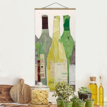 Stoffbild mit Posterleisten - Wein & Spirituosen III - Hochformat 1:2