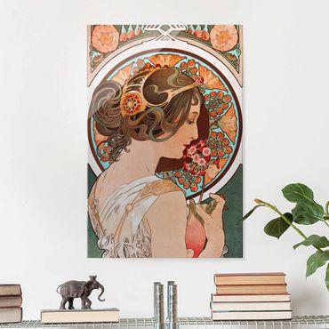 Glasbild - Alfons Mucha - Schlüsselblume - Hochformat 3:2