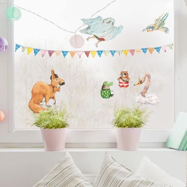 Fensterfolie Fenstersticker - Erdbeerinchen Erdbeerfee - Kostümparty