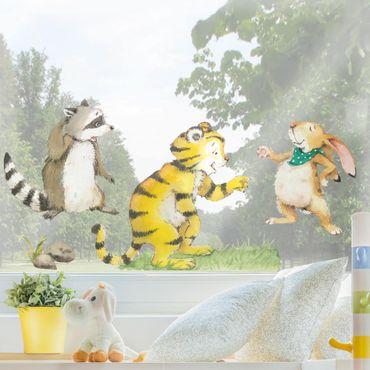 Fensterfolie Fenstersticker - Kleiner Tiger - Freunde Set