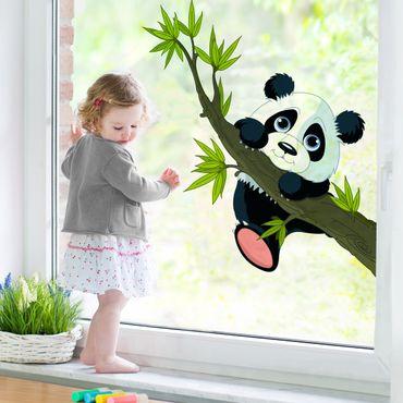 Fensterfolie - Fenstersticker - Kletternder Panda