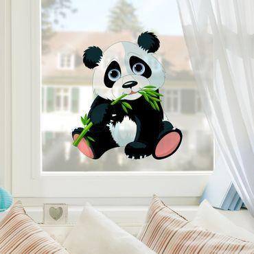 Fensterfolie - Fenstersticker - Naschender Panda