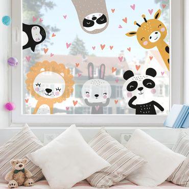 Fensterfolie Fenstersticker - Safari Tier Set