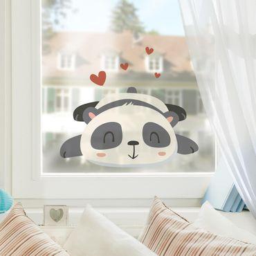 Fensterfolie Fenstersticker - Verliebter Panda - Fensterbild