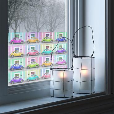 Fensterfolie - Sichtschutz Fenster Bunter Beetle Mix - Fensterbilder