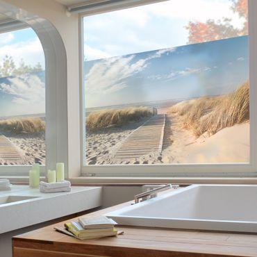 Fensterfolie - Sichtschutz Fenster Ostsee Strand - Fensterbilder