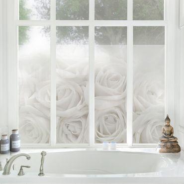 Fensterfolie - Sichtschutz Fenster Rosenhochzeit - Fensterbilder