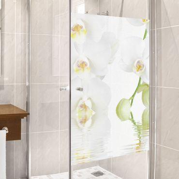 Fensterfolie - Sichtschutz Fenster Wellness Orchidee - Fensterbilder