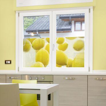 Fensterfolie - Sichtschutz Fenster Zitronen im Wasser - Fensterbilder