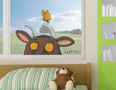 Fensterfolie - Fenstersticker Grüffelo - Mit Schmetterling - Fensterbilder