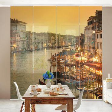 Schiebegardinen Set - Großer Kanal von Venedig - Flächenvorhänge