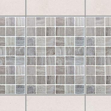 Fliesen Bordüre - Mosaikfliesen Marmoroptik 15x20 - Fliesensticker Set