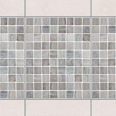 Fliesen Bordüre - Mosaikfliesen Marmoroptik 20x25 - Fliesensticker Set