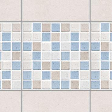 Fliesen Bordüre - Mosaikfliesen Meersand 15x15cm - Fliesensticker Set