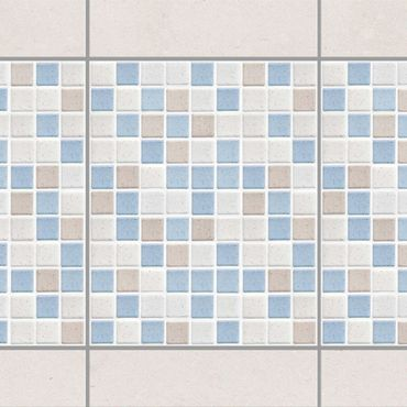 Fliesen Bordüre - Mosaikfliesen Meersand 20x25 - Fliesensticker Set