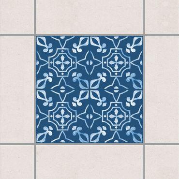 Fliesenaufkleber - Dunkelblau Weiß Muster Serie No.02