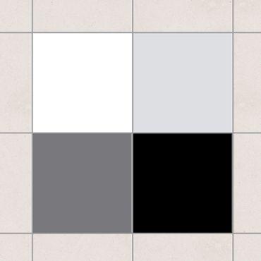 Fliesenaufkleber - Farbset Monochrom