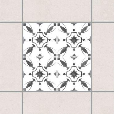 Fliesenaufkleber - Grau Weiß Muster Serie No.1