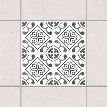 Fliesenaufkleber - Grau Weiß Muster Serie No.2