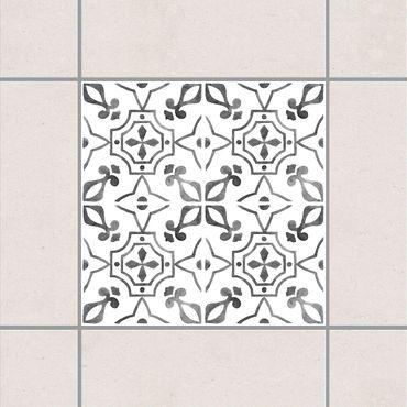 Fliesenaufkleber - Grau Weiß Muster Serie No.9