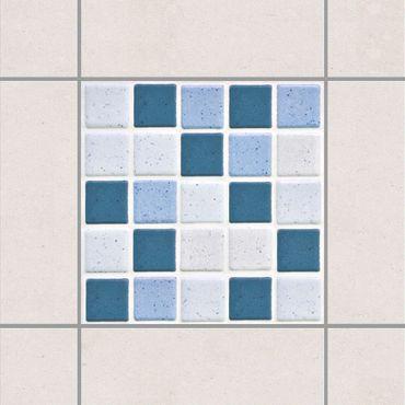 Fliesenaufkleber - Mosaikfliesen Blau Grau