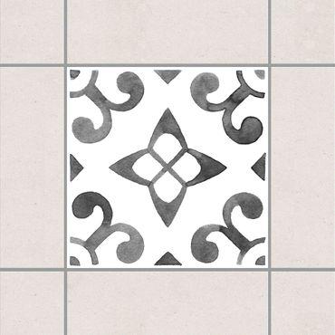 Fliesenaufkleber - Muster Grau Weiß Serie No.5