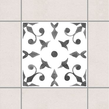 Fliesenaufkleber - Muster Grau Weiß Serie No.6