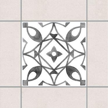 Fliesenaufkleber - Muster Grau Weiß Serie No.8