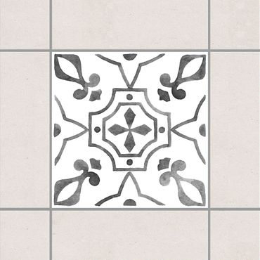 Fliesenaufkleber - Muster Grau Weiß Serie No.9