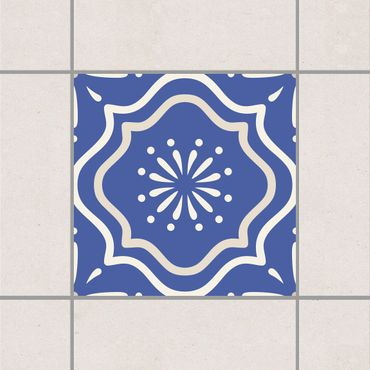 Fliesenaufkleber - Portugiesisches Fliesenornament blau