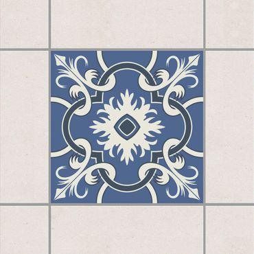 Fliesenaufkleber - Traditionelle spanische Keramikfliese Blau