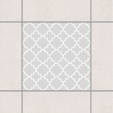 Fliesenaufkleber - Traditional Quatrefoil Light Grey Grau