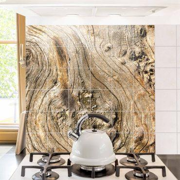 Fliesenbild - Alte Holzstruktur