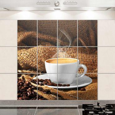 Fliesenbild - Kaffee am Morgen