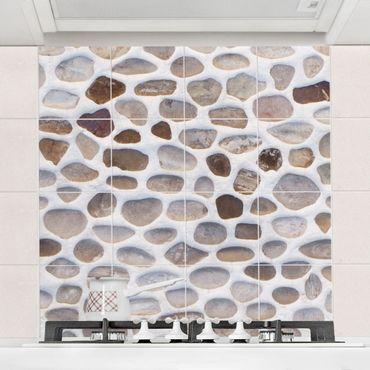 Fliesenbild - Andalusische Steinmauer