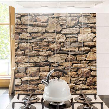 Fliesenbild - Amerikanische Steinwand