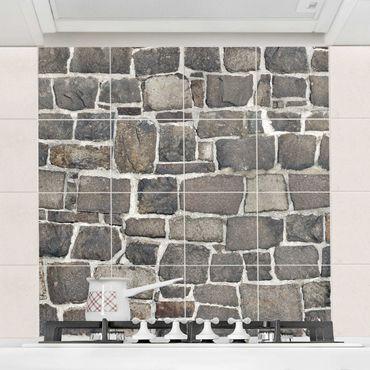 Fliesenbild - Bruchsteintapete Natursteinwand