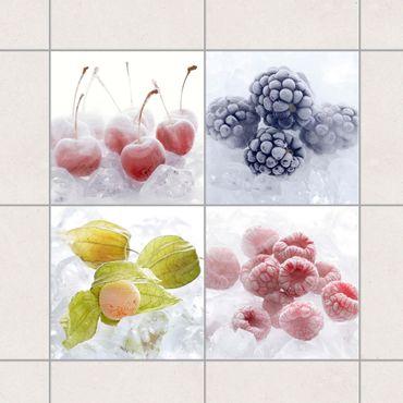 Fliesenaufkleber - Gefrorene Früchte