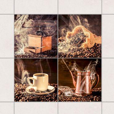 Fliesenaufkleber - Kaffee - Dampf