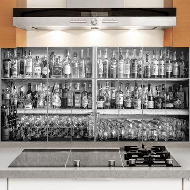 Fliesenbild - Bar Schwarz Weiß