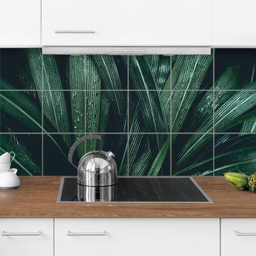 Fliesenbild - Grüne Palmenblätter