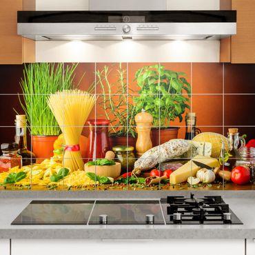 Fliesenbild - Italienische Küche