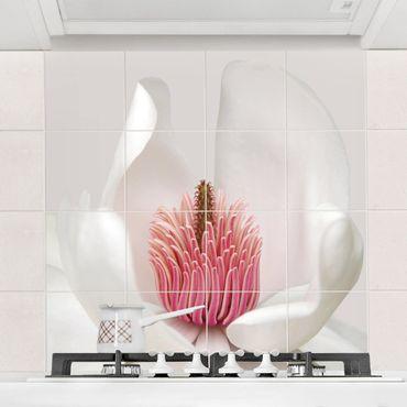 Fliesenbild - Magnolie in Pink