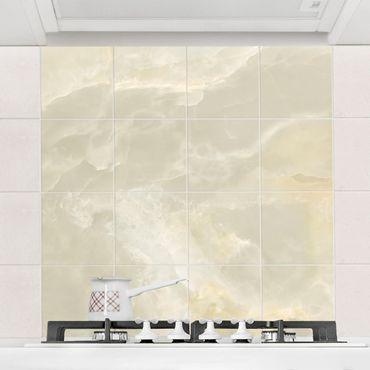 Fliesenbild - Onyx Marmor Creme