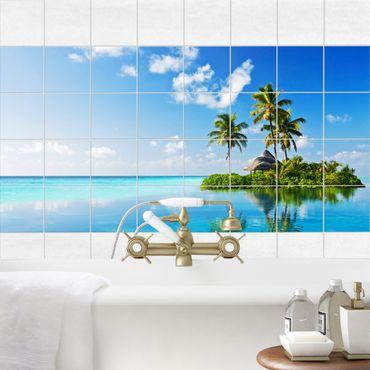 Fliesenbild - Tropisches Paradies