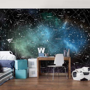 Fototapete Sternbilder Karte Galaxienebel