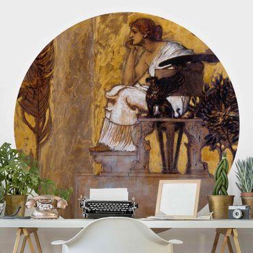 Runde Tapete selbstklebend - Franz von Stuck - Huldigung an die Malerei